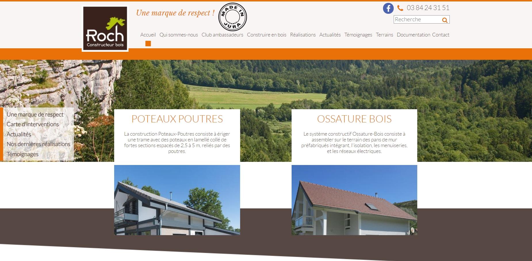 Roch constructeur maisons Bois Jura, Annecy, Bourgogne